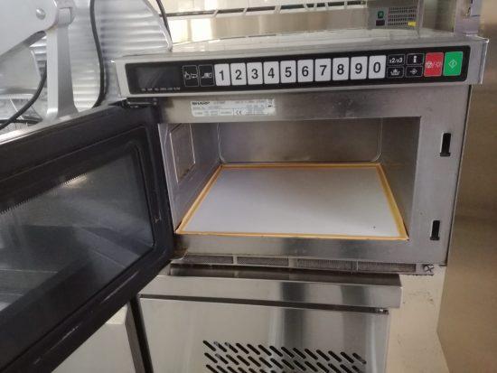 Microonde professionale microonde touch acciaio inox attrezzatura ritiro leasing usato